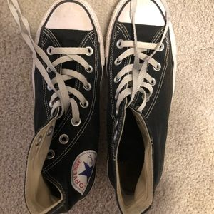 Converse Hightops 7.5 women's Shoes Black w White.